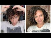 "<p>Sleeping on my thin curls usually means waking up with flat, stretched-out waves and frizz, especially if I sleep with my hair in a <a href=""https://www.cosmopolitan.com/style-beauty/beauty/advice/g4639/incredibly-easy-ponytails-you-should-try-now/"" rel=""nofollow noopener"" target=""_blank"" data-ylk=""slk:ponytail"" class=""link rapid-noclick-resp"">ponytail</a>, topknot, or bun. So to preserve my curly hair while I sleep—and keep the volume—<strong>I swear by Medusa clipping, which works especially well on short hair.</strong> It's essentially just strategically clipping up sections of your hair with small clips (I use <a href=""https://www.amazon.com/Goody-Womens-Classics-Crown-Count/dp/B001T8W48I/ref=sr_1_1_sspa?dchild=1&keywords=mini+hair+clips&qid=1619548979&s=beauty&sr=1-1-spons&psc=1&spLa=ZW5jcnlwdGVkUXVhbGlmaWVyPUExNzlISDRZNk9VQkgxJmVuY3J5cHRlZElkPUEwOTgxMDM2SDVMN0I0MUNUVjRHJmVuY3J5cHRlZEFkSWQ9QTAwNDk5ODlUTFZHSjlQQ1RaSjImd2lkZ2V0TmFtZT1zcF9hdGYmYWN0aW9uPWNsaWNrUmVkaXJlY3QmZG9Ob3RMb2dDbGljaz10cnVl"" rel=""nofollow noopener"" target=""_blank"" data-ylk=""slk:Goody's Mini Hair Clips"" class=""link rapid-noclick-resp"">Goody's Mini Hair Clips</a> or <a href=""https://www.amazon.com/Scunci-Effortless-Beauty-Thick-18-Count/dp/B0045HYPIM/ref=sr_1_11?dchild=1&keywords=mini+hair+clips&qid=1619549021&s=beauty&sr=1-11"" rel=""nofollow noopener"" target=""_blank"" data-ylk=""slk:Scunci's Mini Jaw Clips"" class=""link rapid-noclick-resp"">Scunci's Mini Jaw Clips</a>) to keep curls intact overnight.</p><p>Don't worry—you can't feel the clips when you sleep (they're on top of your head, not smashed against your pillow), and even if you're a chaotic sleeper like I am, the clips still manage to keep enough of my hair under control for it to look good once I take it down in the morning. Just be warned: Your hair <em>will </em>look a bit cray after you unclip it, but <strong>give it time to settle (think 10-15 minutes).</strong> I usually just clip the sides back and off my face while I get dressed and do my morning thang, then remove the clips and live my life.<br></p><p><a href=""https://www.youtube.com/watch?v=Nvw2oX9x_6U&t=159s&ab_channel=JannelleO%27Shaughnessy"" rel=""nofollow noopener"" target=""_blank"" data-ylk=""slk:See the original post on Youtube"" class=""link rapid-noclick-resp"">See the original post on Youtube</a></p>"