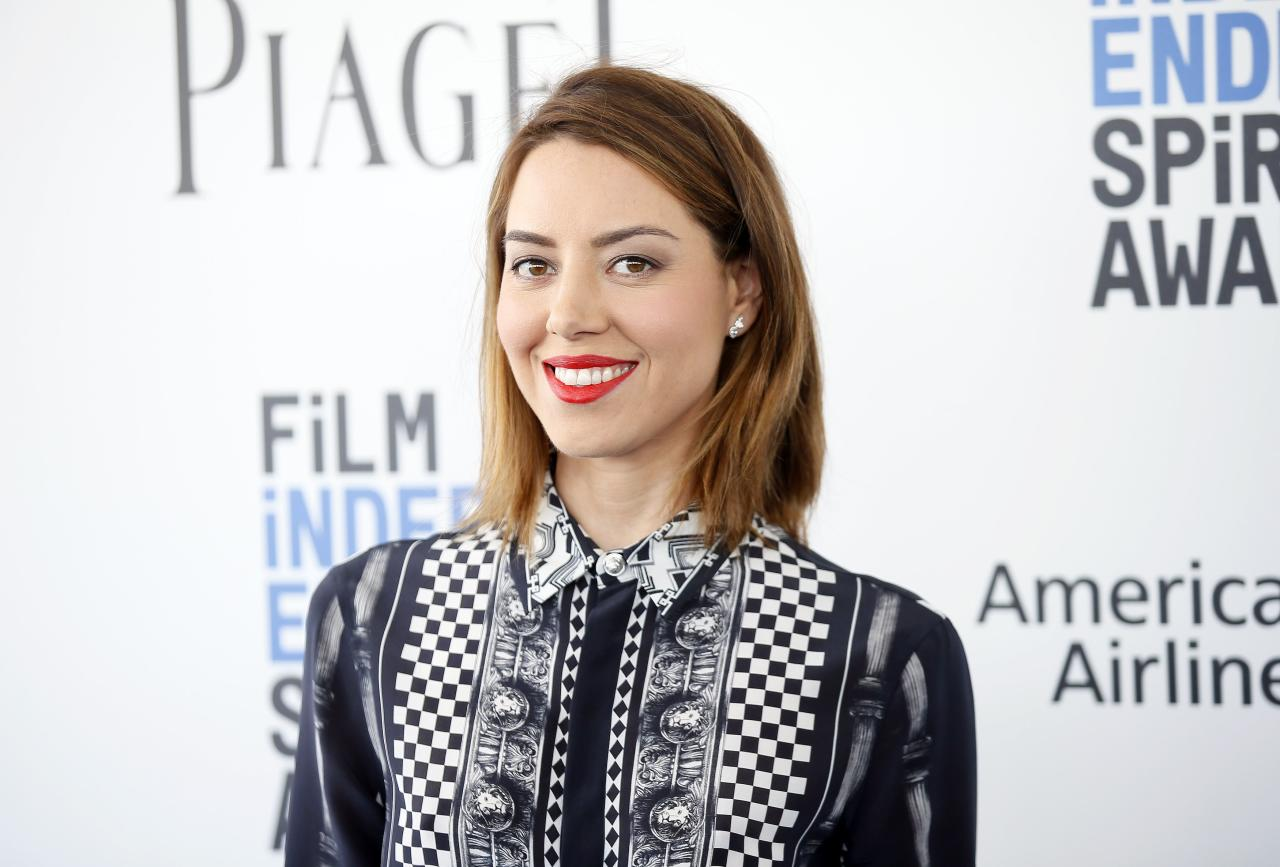 Aubrey Plaza  arrives at the 2017 Film Independent Spirit Awards in Santa Monica, California, U.S., February 25, 2017. REUTERS/Danny Moloshok