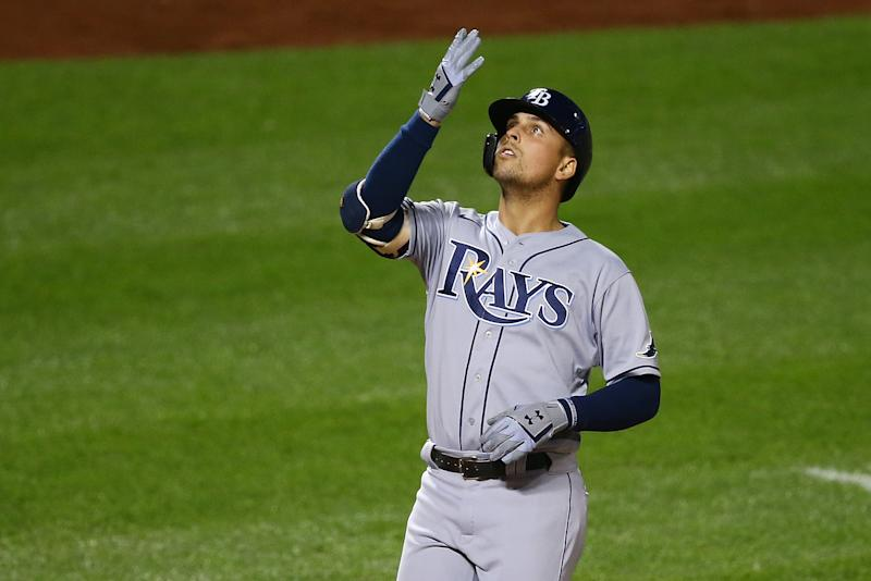 The Rays can clinch their AL East title with a win Tuesday. (Photo by Mike Stobe/Getty Images)