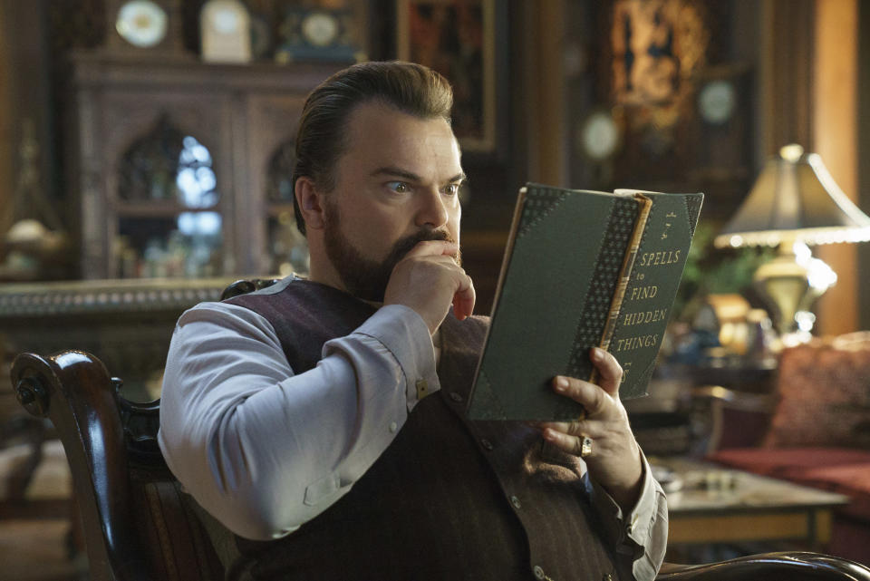 Jack Black in a scene from The House With A Clock in Its Walls. (Quantrell D. Colbert/Universal Pictures via AP)