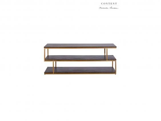 We love the gold effect on this minimalistic coffee table (Next)