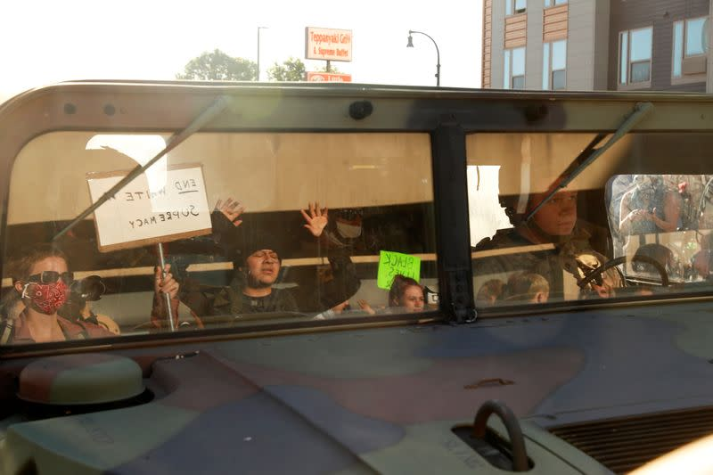 Protest following the death in Minneapolis police custody of African-American man George Floyd