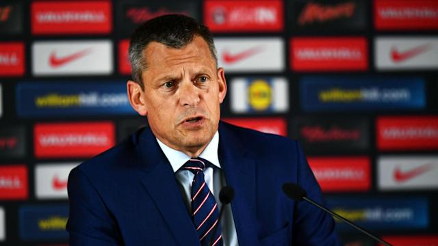 Martin Glenn has received the backing of the Football Association after Mark Sampson was sacked as England Women's manager.