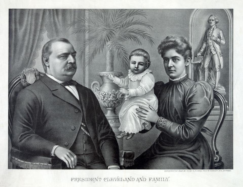 President Cleveland and Family. Source: Getty