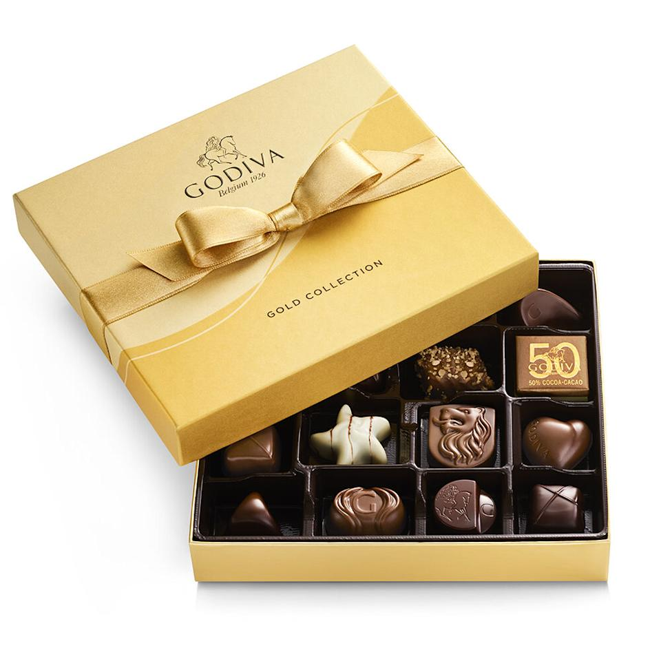 Assorted Chocolate Gold Gift Box - Godiva, $24 (originally $35)