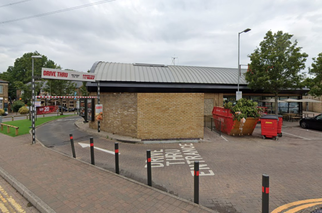 The incident took place at a KFC drive-thru in Colliers Wood, London. (Google)