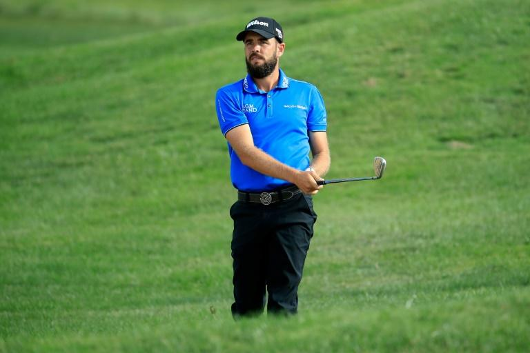 Troy Merritt, leading after each of the first two rounds, carded a two-under par 69 in the third round at the Barbasol Championship for a share of the lead with three others
