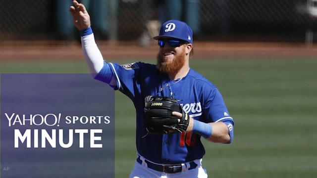 Yahoo Sports Minute recaps top stories including Justin Turner reportedly breaking his wrist, the Cavaliers beating the Bucks, 124-117 and TE Eric Ebron reportedly signing with the Colts.