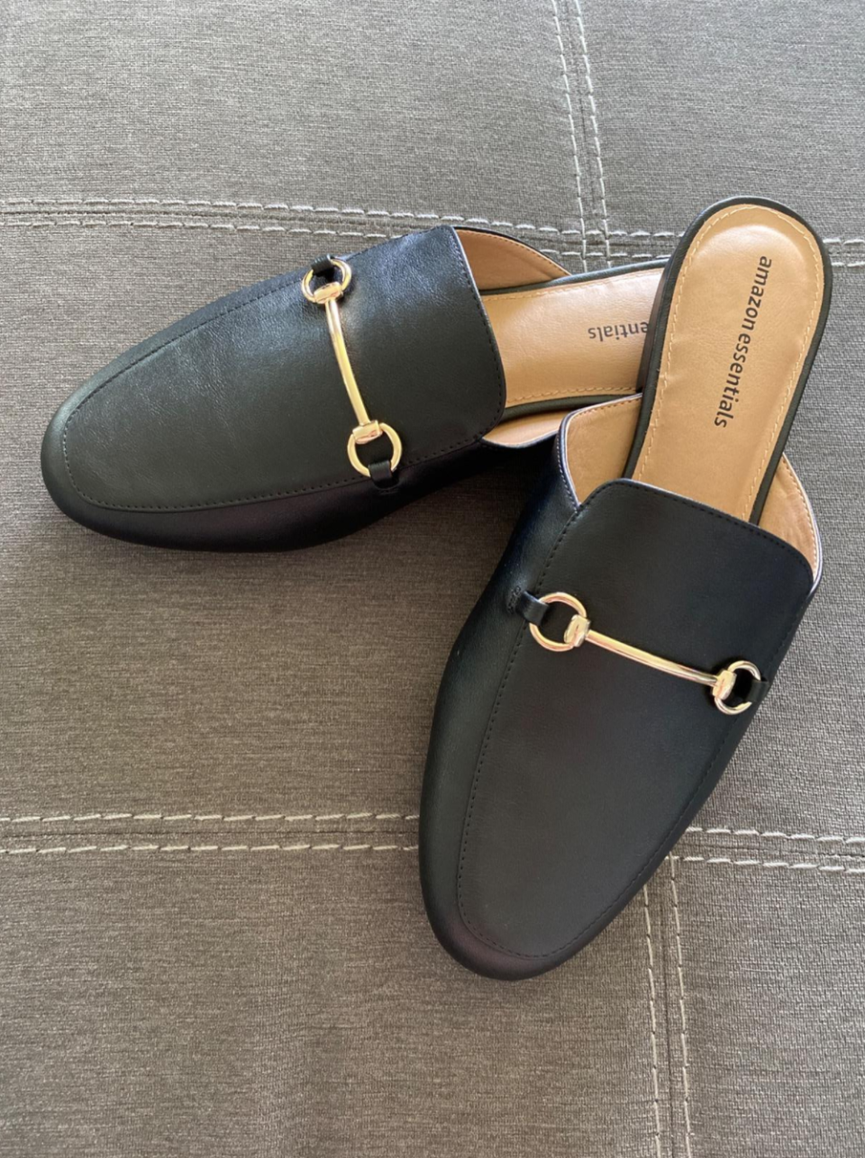 Amazon customer review photo of the Essentials June Mule by shopper M Kelly