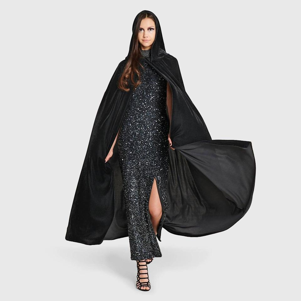 <p>Turn any outfit into the most glamorous yet dramatic Halloween-inspired outfit with the <span>Hyde &amp; EEK! Boutique Adult Velvet Black Halloween Cape</span> ($25). It's a stunning way to wear a chic dress but make it bewitchingly boo-tiful.</p>
