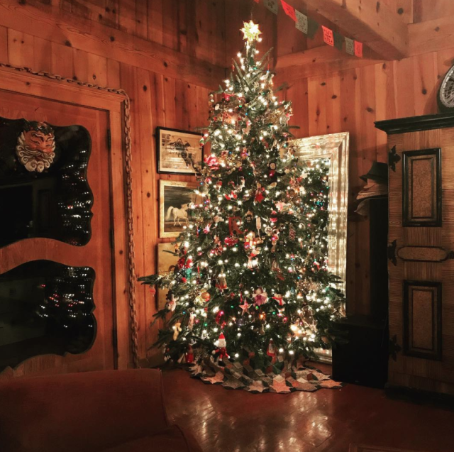 "<p><span>Wow! Romijn decorated her tree for an old-fashioned family Christmas. </span>(Photo: <a href=""https://www.instagram.com/p/Bci3YSNHm_c/?hl=en&taken-by=rebeccaromijn"" rel=""nofollow noopener"" target=""_blank"" data-ylk=""slk:Rebecca Romijn via Instragram"" class=""link rapid-noclick-resp"">Rebecca Romijn via Instragram</a>) </p>"