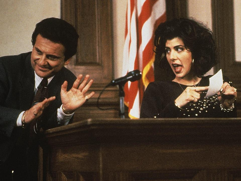 Joe Pesci and Marisa Tomei in My Cousin Vinny (Photo by 20th Century Fox/Kobal/REX)