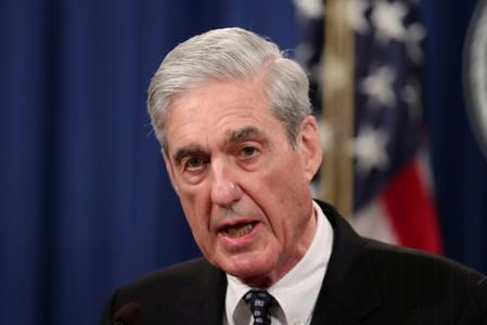 FILE PHOTO: U.S. Special Counsel Robert Mueller makes a statement on his investigation into Russian interference in the 2016 U.S. presidential election at the Justice Department in Washington