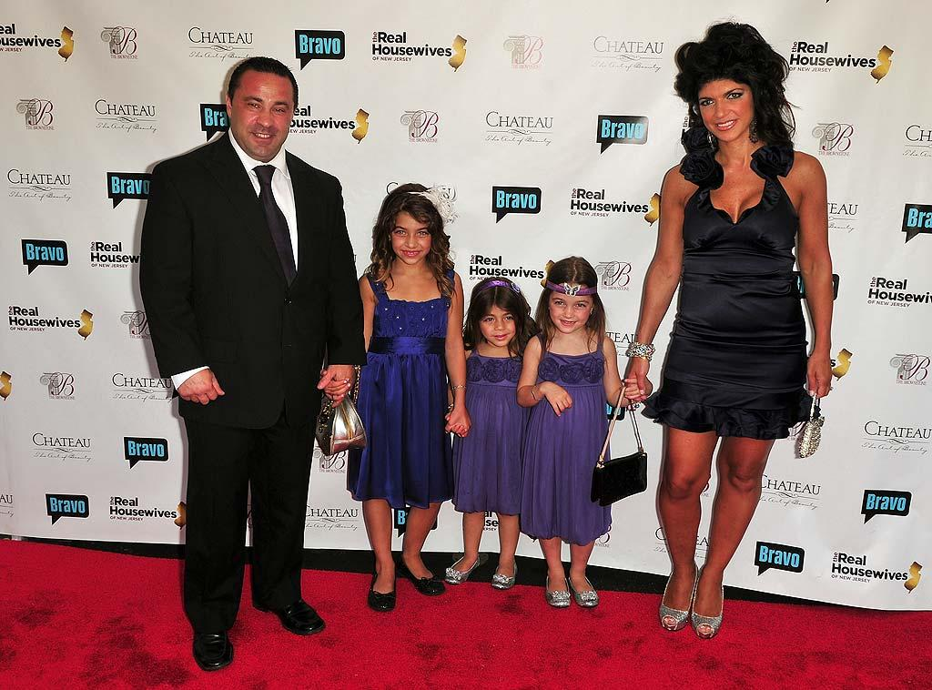 """Big-haired Teresa was joined by her """"juicy"""" husband Joe and their three little girls: Gia, Gabriella, and Milania. The couple also has an 8-month-old named Audriana. Brian Killian/<a href=""""http://www.wireimage.com"""" target=""""new"""">WireImage.com</a> - May 3, 2010"""