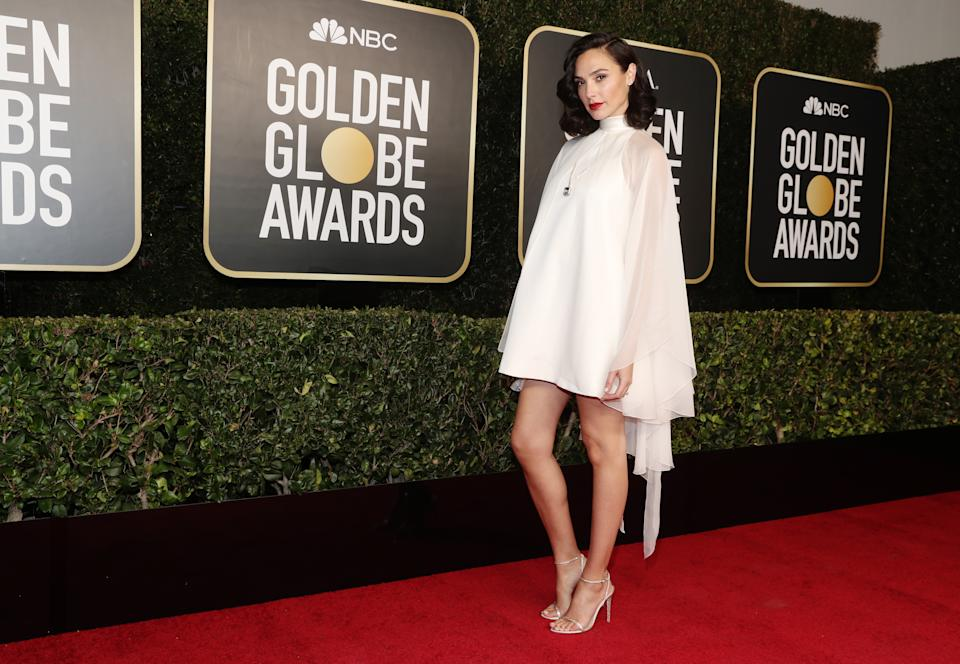 BEVERLY HILLS, CALIFORNIA: 78th Annual GOLDEN GLOBE AWARDS -- Pictured: Gal Gadot attends the 78th Annual Golden Globe Awards held at The Beverly Hilton and broadcast on February 28, 2021 in Beverly Hills, California. -- (Photo by Todd Williamson/NBC/NBCU Photo Bank via Getty Images)