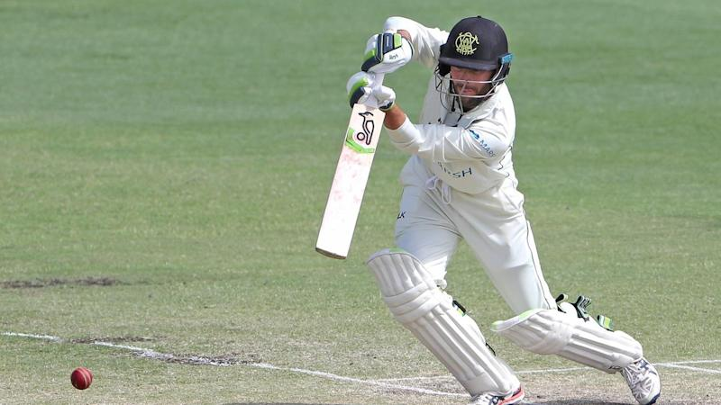 Sam Whiteman is nearing a ton for WA on the last day of the Sheffield Shield match with Queensland