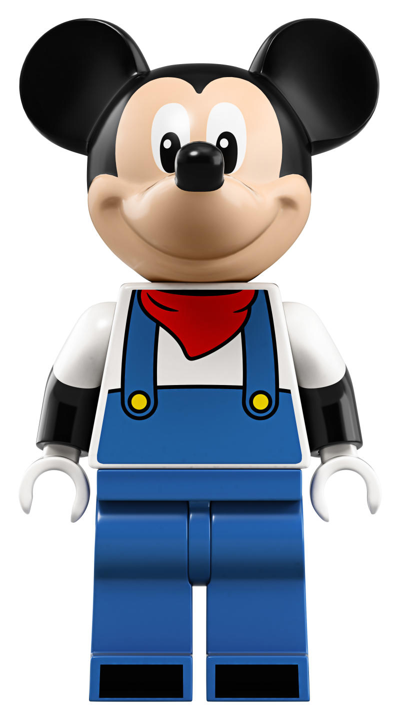 Take a close look at the Mickey figure included in the Disney Train and Station Lego set. (Photo: Lego)