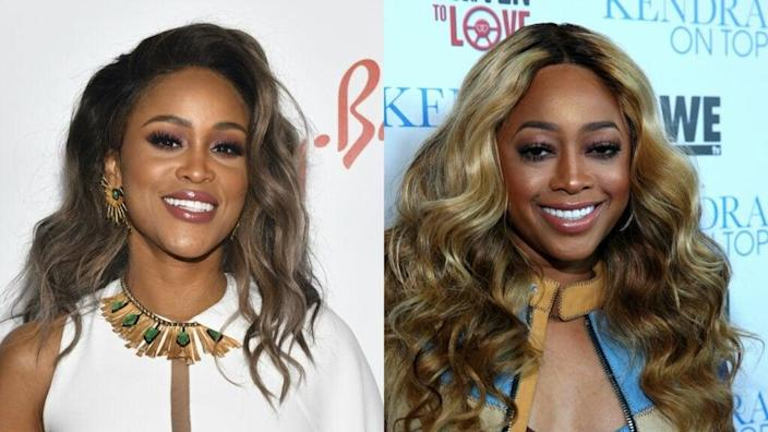 Eve by Rodin Eckenroth/Getty Images AND Trina by Jonathan Leibson/Getty Images for WE tv