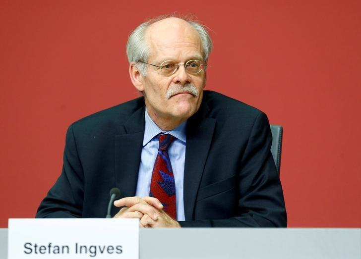 FILE PHOTO: Chairman of the Basel Committee on Banking Supervision Ingves attends a news conference at the ECB headquarters in Frankfurt