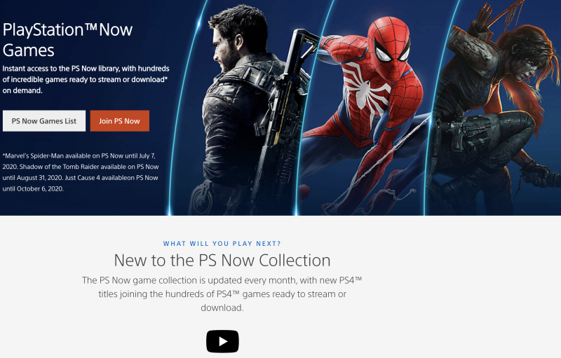 Sony's PlayStation Now is another all-you-can-play option worth checking out. (Image: Sony)