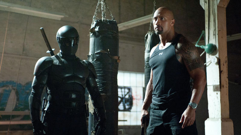 Ray Park and Dwayne Johnson in 2013 sequel 'G.I. Joe: Retaliation'. (Credit: Paramount)