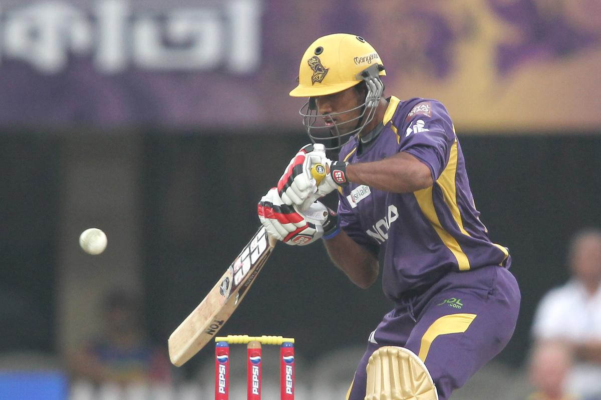 Sachithra Senanayake of Kolkata Knight Riders plays a delivery late during match 26 of the Pepsi Indian Premier League between The Kolkata Knight Riders and the Chennai Superkings held at the Eden Gardens Stadium in Kolkata on the 20th April 2013..Photo by Shaun Roy-IPL-SPORTZPICS  ..Use of this image is subject to the terms and conditions as outlined by the BCCI. These terms can be found by following this link:..https://ec.yimg.com/ec?url=http%3a%2f%2fwww.sportzpics.co.za%2fimage%2fI0000SoRagM2cIEc&t=1506165867&sig=7HBVsXFtv81HIMeG_iZn_A--~D