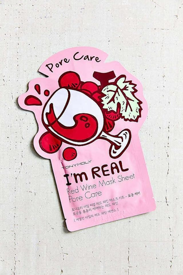"""<p>Allow your BFF to pamper herself with this <a href=""""https://www.popsugar.com/buy/Im-Real-Red-Wine-Mask-Sheet-357073?p_name=I%27m%20Real%20Red%20Wine%20Mask%20Sheet&retailer=urbanoutfitters.com&pid=357073&price=4&evar1=tres%3Aus&evar9=36064194&evar98=https%3A%2F%2Fwww.popsugar.com%2Flove%2Fphoto-gallery%2F36064194%2Fimage%2F36067713%2FWine-Queen&list1=shopping%2Choliday%2Cwomen%2Cgift%20guide%2Culta%2Cfriendship%2Ceditors%20pick%2Cgifts%20for%20her%2Choliday%20living%2Cgifts%20for%20women%2Cgifts%20for%20teens&prop13=mobile&pdata=1"""" rel=""""nofollow"""" data-shoppable-link=""""1"""" target=""""_blank"""" class=""""ga-track"""" data-ga-category=""""Related"""" data-ga-label=""""https://www.urbanoutfitters.com/shop/tonymoly-im-real-sheet-mask"""" data-ga-action=""""In-Line Links"""">I'm Real Red Wine Mask Sheet</a> ($4).</p>"""