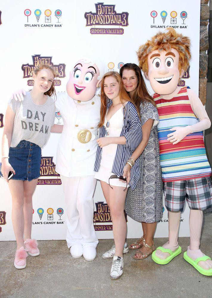 Brooke Shields with her daughters Grier (left) and Rowan Henchy. | Sonia Moskowitz/Getty