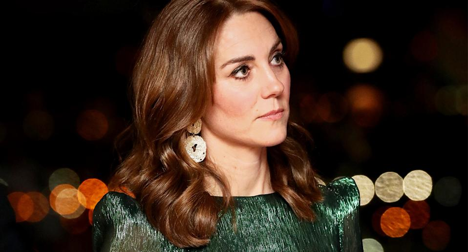 Duchess of Cambridge wearing The Vampire's Wife in Ireland,=. (Getty Images)