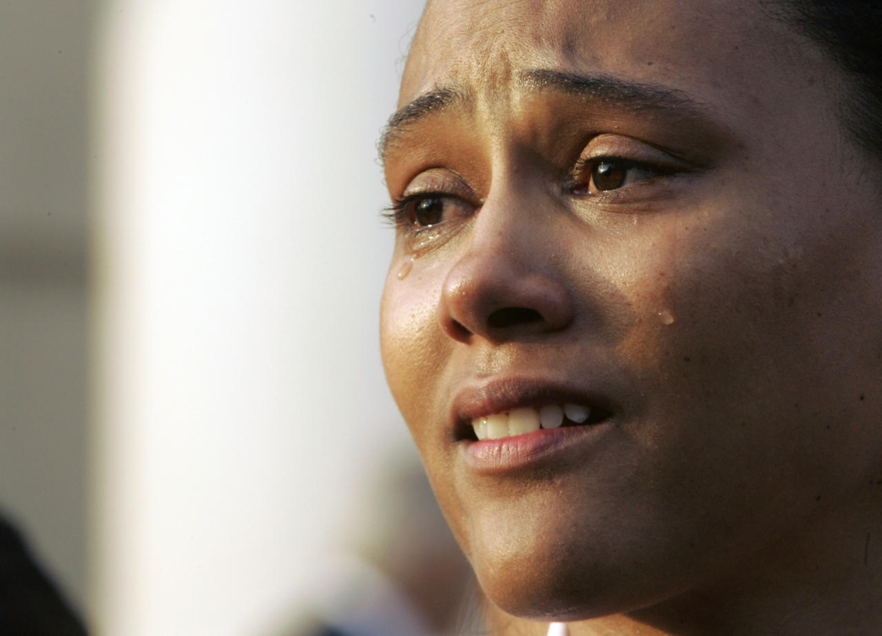 In October of 2007, American track and field superstar Marion Jones admitted she lied to federal investigators when she told them she had never used performance-enhancing drugs. Jones had her three gold medals from the 2000 Sydney Games stripped as part of her punishment. (AP Photo/Mary Altaffer, File)