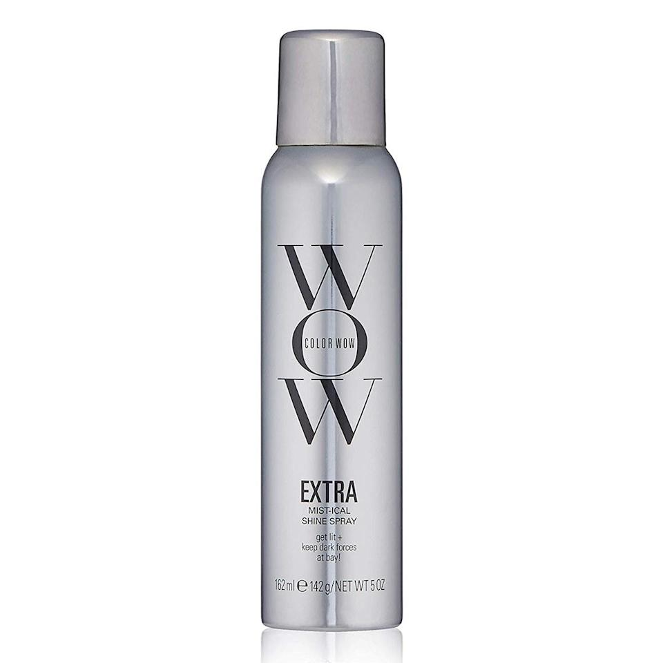"""$29, Color Wow Extra Mist-ical Shine Spray. <a href=""""https://www.amazon.com/COLOR-WOW-Mist-ical-Thermal-Protection/dp/B07WRK3B1J"""" rel=""""nofollow noopener"""" target=""""_blank"""" data-ylk=""""slk:Get it now!"""" class=""""link rapid-noclick-resp"""">Get it now!</a>"""