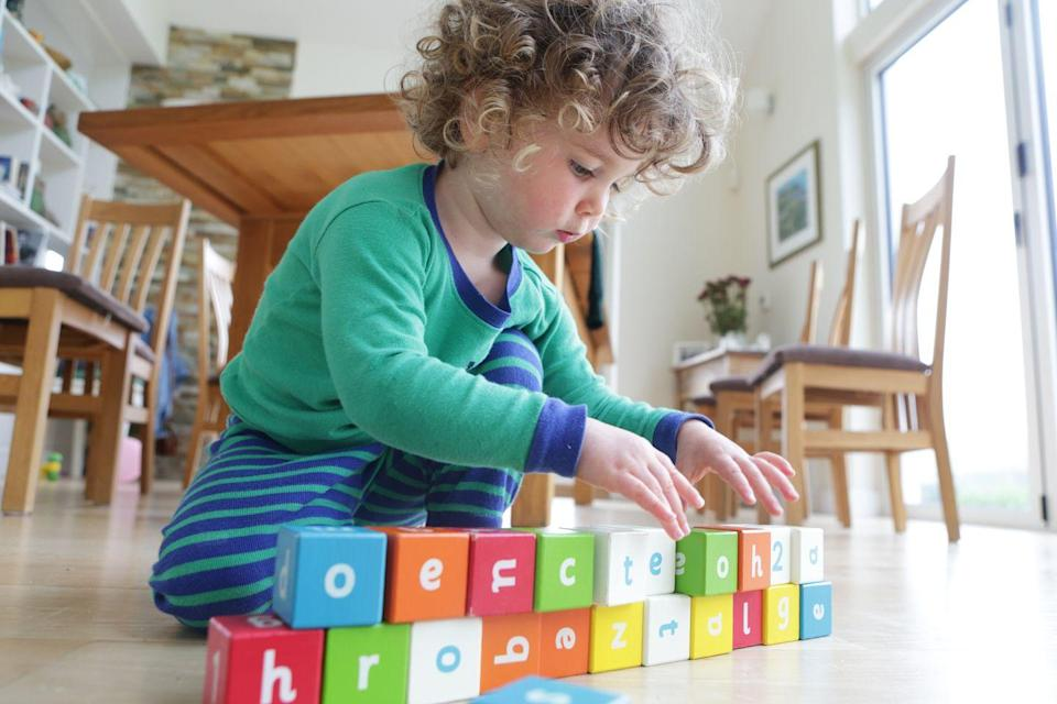 """<p>Kids as young as toddlers can start to practice memory skills via the simple activity of color matching. Whether you download a <a href=""""http://printables.atozteacherstuff.com/185/crayon-color-matching-game/"""" rel=""""nofollow noopener"""" target=""""_blank"""" data-ylk=""""slk:printable game"""" class=""""link rapid-noclick-resp"""">printable game</a>, or just ask your child to match blocks, they'll put their knowledge of color categories to the test, too.</p>"""