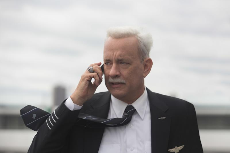 "This image released by Warner Bros. Pictures shows Tom Hanks in a scene from ""Sully."" (Keith Bernstein/Warner Bros. Pictures via AP)"