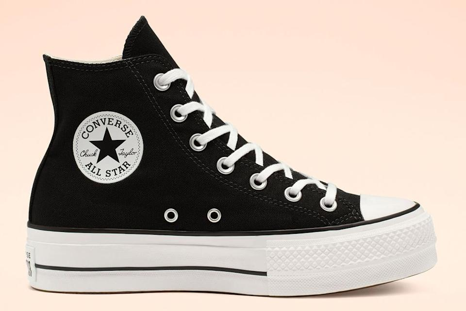 sneakers, high top, black white, converse