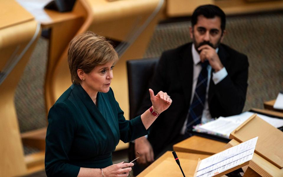 Nicola Sturgeon defended Humza Yousaf's claims that people should 'think twice' before dialling 999 - Andy Buchanan/PA Wire