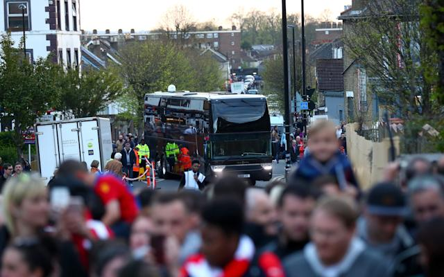 Arsenal's team bus was delayed on arrival due to traffic around Selhurst ParkCredit: Getty Images