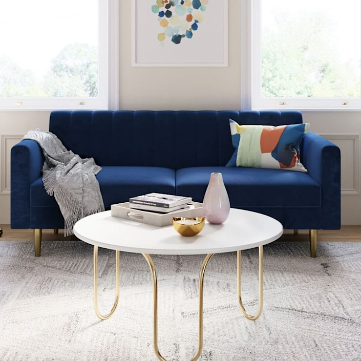 """<h3><strong>West Elm</strong></h3> <br><br><br><strong>Best For: Reasonably-Priced Staples <br></strong>A great place to hunt for reasonably priced (but well-made) furniture, West Elm regularly offers sales and promotions throughout the year to help you snag a dream item for less. It's also a great go-to for room accents or tabletop pieces — for you or for gifts.<br><br><strong><em><a href=""""http://www.westelm.com/"""" rel=""""nofollow noopener"""" target=""""_blank"""" data-ylk=""""slk:Shop West Elm"""" class=""""link rapid-noclick-resp"""">Shop West Elm</a></em></strong><br><br><strong>West Elm</strong> Olive Sofa, $, available at <a href=""""https://go.skimresources.com/?id=30283X879131&url=https%3A%2F%2Fwww.westelm.com%2Fproducts%2Folive-sofa-h5890%2F"""" rel=""""nofollow noopener"""" target=""""_blank"""" data-ylk=""""slk:West Elm"""" class=""""link rapid-noclick-resp"""">West Elm</a><br><br><br><br><br>"""