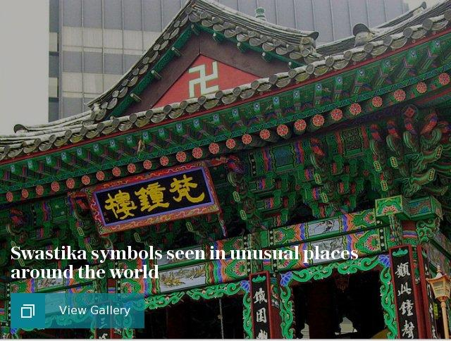 Swastika symbols seen in unusual places around the world