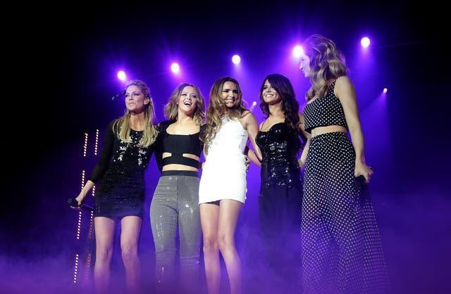 Girls Aloud on stage during the 2012 Capital FM Jingle Bell Ball (Yui Mok/PA)