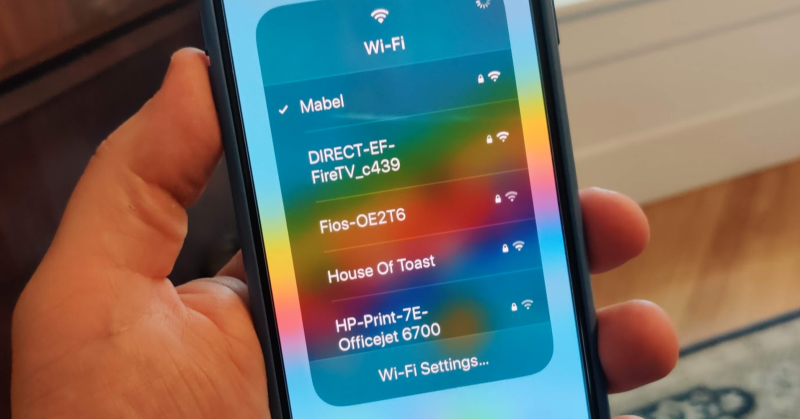 Choose a Wi-Fi network from Control Center in iOS 13.