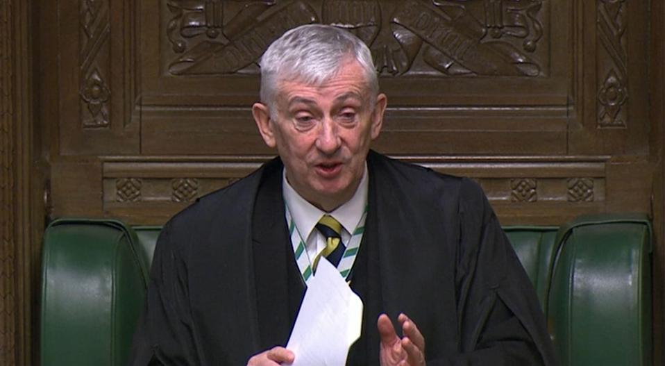 Speaker of the House of Commons Sir Lindsay Hoyle (House of Commons) (PA Archive)