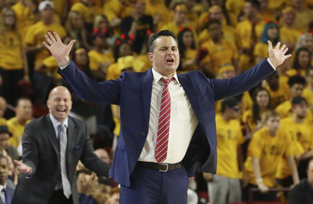 Arizona has dropped its past three games and is 5-4 in the Pac-12 this season under head coach Sean Miller. (AP)