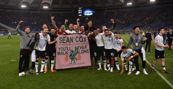 The scenes in Rome were emotional (Liverpool FC via Getty Images)