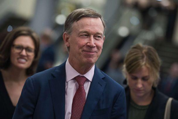 PHOTO: Gov. John Hickenlooper, D-Colo., is seen in the senate subway in the Capitol on Sept. 7, 2017. (Tom Williams/Getty Images)