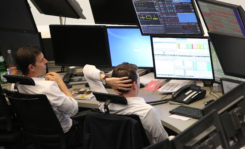 The Dow Jones Industrial Average ended up0.5 percent at 19,974.62 (AFP Photo/Daniel Roland)
