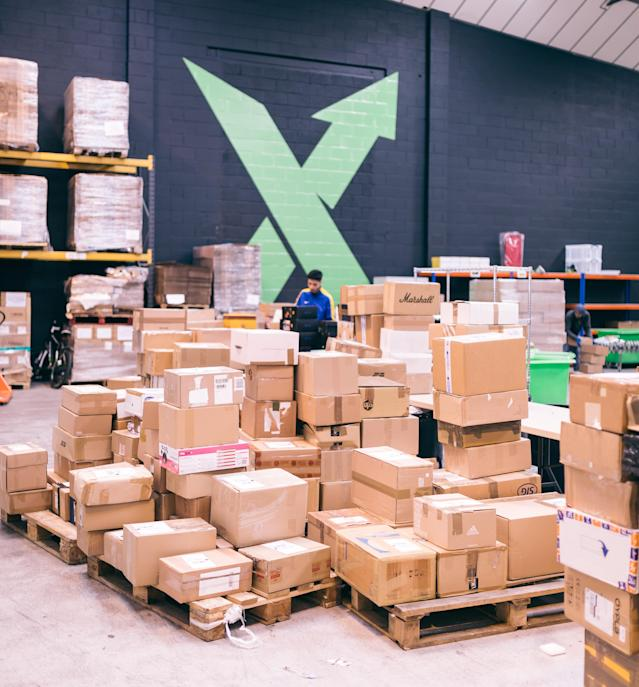 StockX's London authentication site. Photo: StockX
