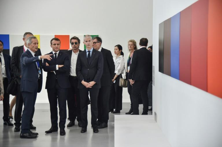 French President Emmanuel Macron participated in the opening of the Pompidou Centre's Shanghai branch