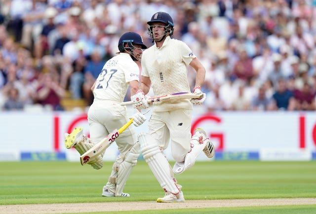 Rory Burns (left) and Dom Sibley put on 72 for the first wicket before New Zealand hit back