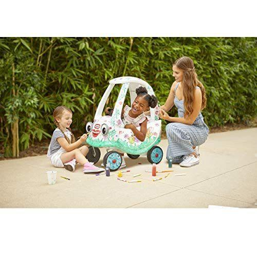 """<p><strong>Little Tikes</strong></p><p>amazon.com</p><p><strong>$59.99</strong></p><p><a href=""""https://www.amazon.com/dp/B07VBJGCFC?tag=syn-yahoo-20&ascsubtag=%5Bartid%7C10048.g.34727939%5Bsrc%7Cyahoo-us"""" rel=""""nofollow noopener"""" target=""""_blank"""" data-ylk=""""slk:Buy Now"""" class=""""link rapid-noclick-resp"""">Buy Now</a></p><p>OH-EM-GEE! Remember the Little Tikes <a href=""""https://www.caranddriver.com/news/a15353434/inside-googles-autonomous-car-its-like-a-cozy-coupe-for-grown-ups/"""" rel=""""nofollow noopener"""" target=""""_blank"""" data-ylk=""""slk:Cozy Coupe"""" class=""""link rapid-noclick-resp"""">Cozy Coupe</a>? It's been re-imagined for a new era with a DIY angle. This all-white model comes with some special paints and decals that let your little one do their own paint job and, if they tire of their design, they can wipe it clean and start fresh.</p>"""