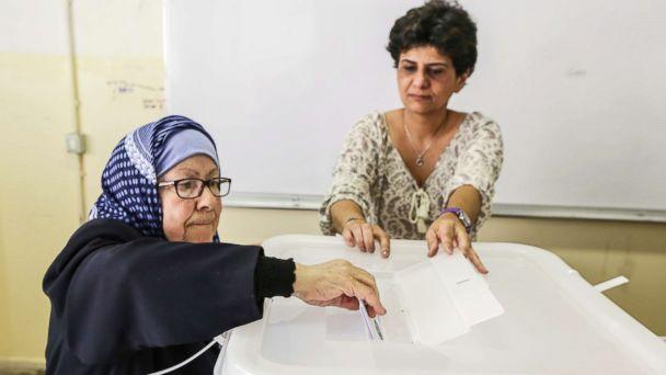 PHOTO: A Lebanese woman casts her vote at a ballot station in Baabda, south east Beirut, Lebanon, May 06, 2018. (Nabil Mounzer/EPA via Shutterstock)